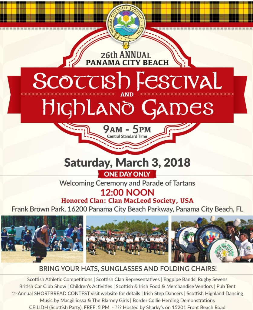 Come Be A Part Of The Panama City Beach Scottish Festival Panama - Panama city beach car show 2018
